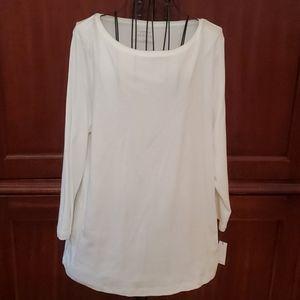 NWT Talbots 3/4 Length Sleeve Tee Shirt XL